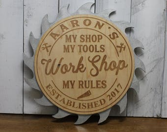 Saw Blade Sign Etsy