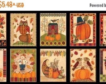 Thankful 20% Off Give Thanks - Blocks 8562-41 by Blank Quilting Cotton Fabric Panel