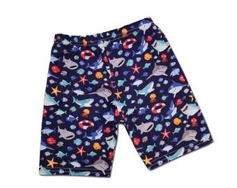 Boy's Under the Sea Ocean Shark Shorts