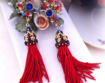 Earrings tassel, Handmade Earrings, Handmade from Italy, -20%