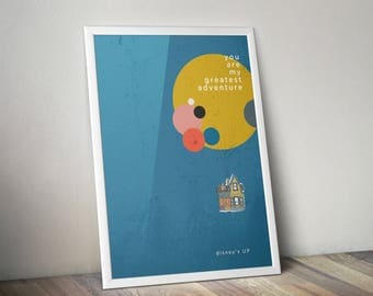 Walt Disney & Pixar's UP! A3 print - framed and unframed options available