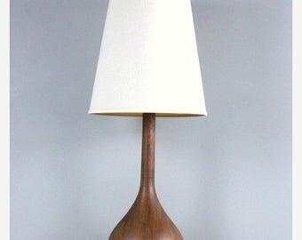 Mid Century Danish Teak Tear Drop Lamp 1960s Classic Eames Era