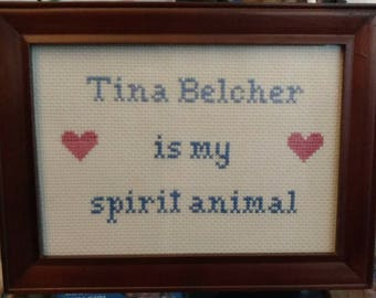 Tina Belcher is my Spirit Animal Cross Stitch Framed!  Decorate your place with very inappropriate fun!