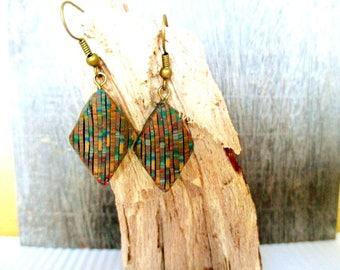 Multicolor handmade earrings.