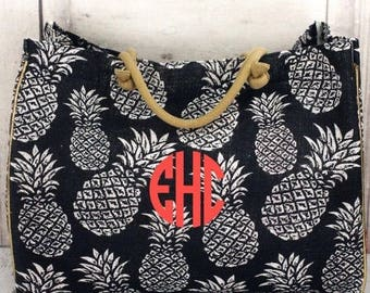 Large Pineapple Beach Bag