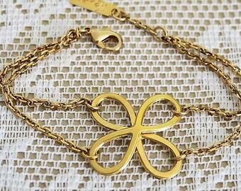 Infinity Bracelet, Multi Strand Bracelet, Gold Infinity Bracelet, Gold Filled Charm Bracelet, Friendship Bracelets, Bracelet for Her