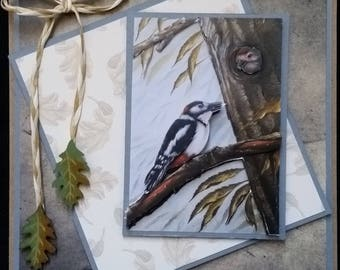 "card scrap, 3d picture suh ""Woodpecker"""