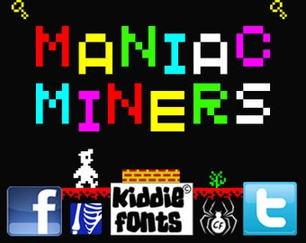 MANIAC MINERS Commercial Font