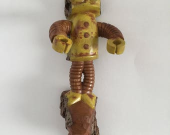 Robot Cottonwood Bark Carving
