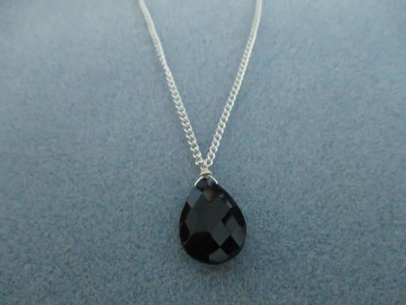 Black Onyx Pendant Necklace N616179