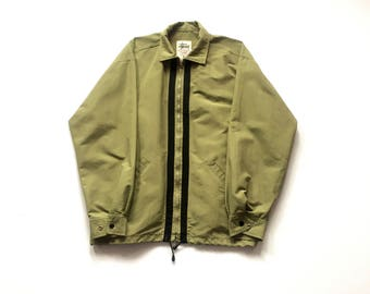 80s STUSSY Tribe skateboarding jacket, stussy outer gear size large made in usa nylon full zip