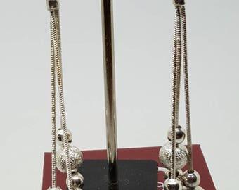 Drop dangle earrings.silver balls dangle drop earrings gift for her birthday gift