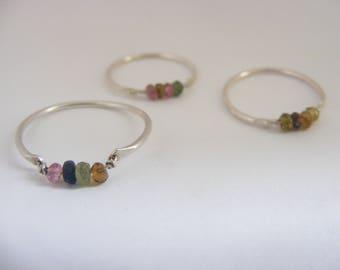 Silver Turmaline Handmade Ring