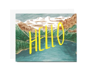Mountain Hello Card