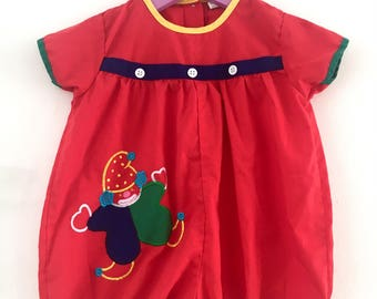Vintage clown jumpsuit, overall