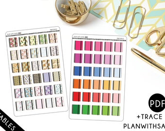 Planner, Spiral Planner, Planning  Icons - Printable Planner Stickers