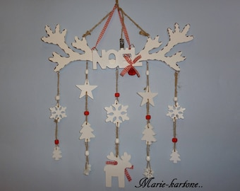 """Hanging door or wall Christmas"" White Christmas ""wooden wall hanging"