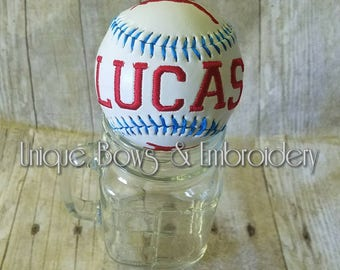 Baseball personalized ~ embroidered baseball ~ personalized baseball