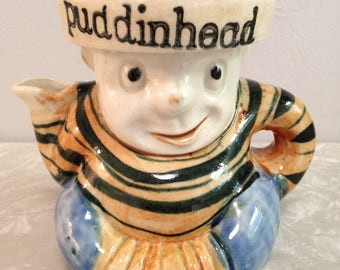 Puddinhead Juicer Reamer squeezer / Whimsical Rare Glass Ceramic Collectible