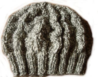 Heather gray hat size 56