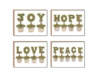 Assorted Topiary with Berries Notecards Boxed Set