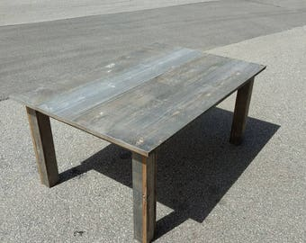 Unfinished Barn wood  Dining Room Table