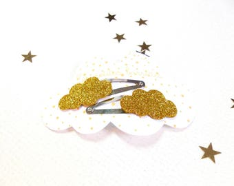 The clouds glitters gold pins