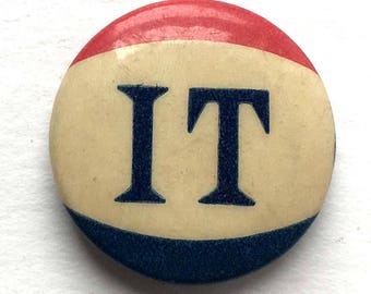 C. 1940 Red, White, Blue IT pinback button