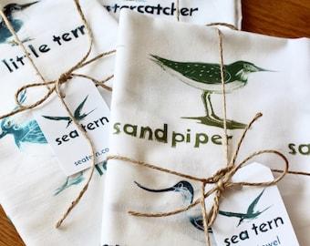 Sea Bird tea towel in full colour