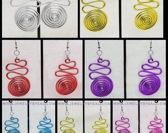 Spiraling Swirl Light Weight Dangle Earrings