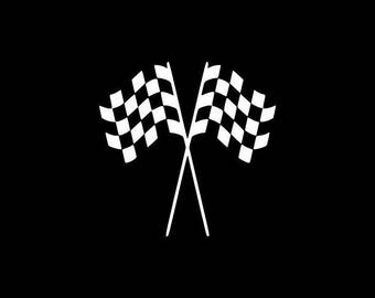 Checkered Flags Decal,Checkered flags Sticker Racing Decals,Racing Stickers