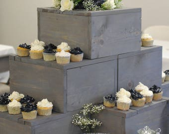 Cake / Cupcake Wood Box Display