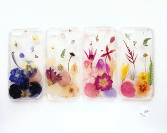 Choose your colour! iPhone case with real pressed flowers