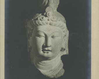 Chinese Buddhist figure - Vintage Photographic print.