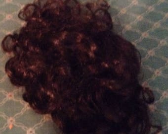 Curly Brown Doll Wig