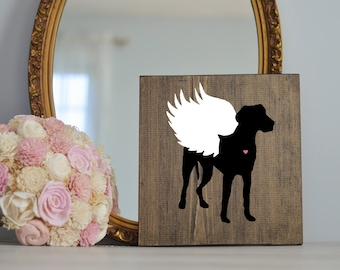 Great Dane Angel Wing Silhouette, Remembrance Sign, Dog Memorial, Loss of Dog, Dane Silhouette, Pet Loss, Dog At, Great Dane