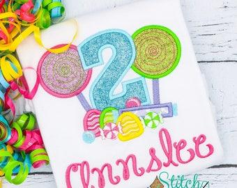 Sweet Shop Birthday Shirt, Candy Birthday Shirt, Candy Applique, Candy land Birthday, lollipop Birthday Shirt or Bodysuit