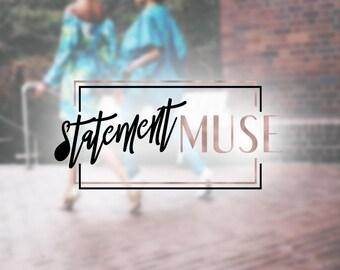 Premade Fashion Logo Design   Beauty Logo Design   Foil Logo Design   Social Branding Design   Wordpress Squarespace Logo   Blog Header