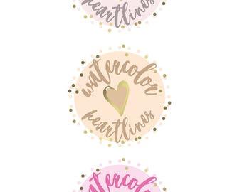 Premade Heart Logo Design   Lifestyle Blog Logo   Fashion Blog Logo   Beauty Blog Logo   Pink Gold Cream Logo Design   Blogger Template Logo