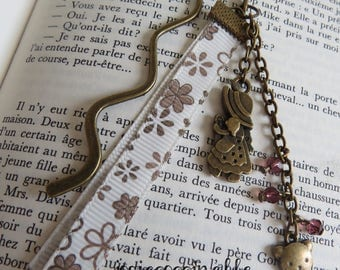 Doll and teddy bear bronze bookmarks