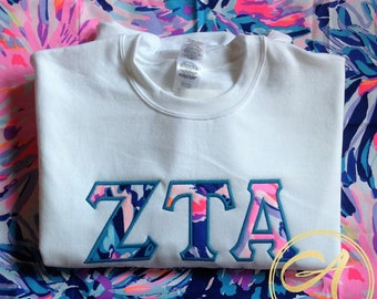 Customizable Lilly Pulitzer Crew Neck Sweatshirt- Off Tropic