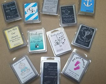 Personalized Scented Wax Melt Favors