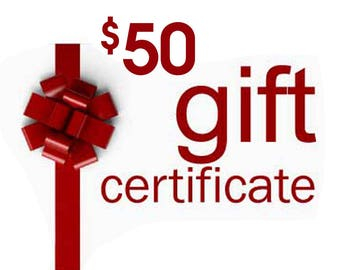 Gift Certificate, Anything Photos Custom Personalized Artwork, Gift Card, 50 dollar value