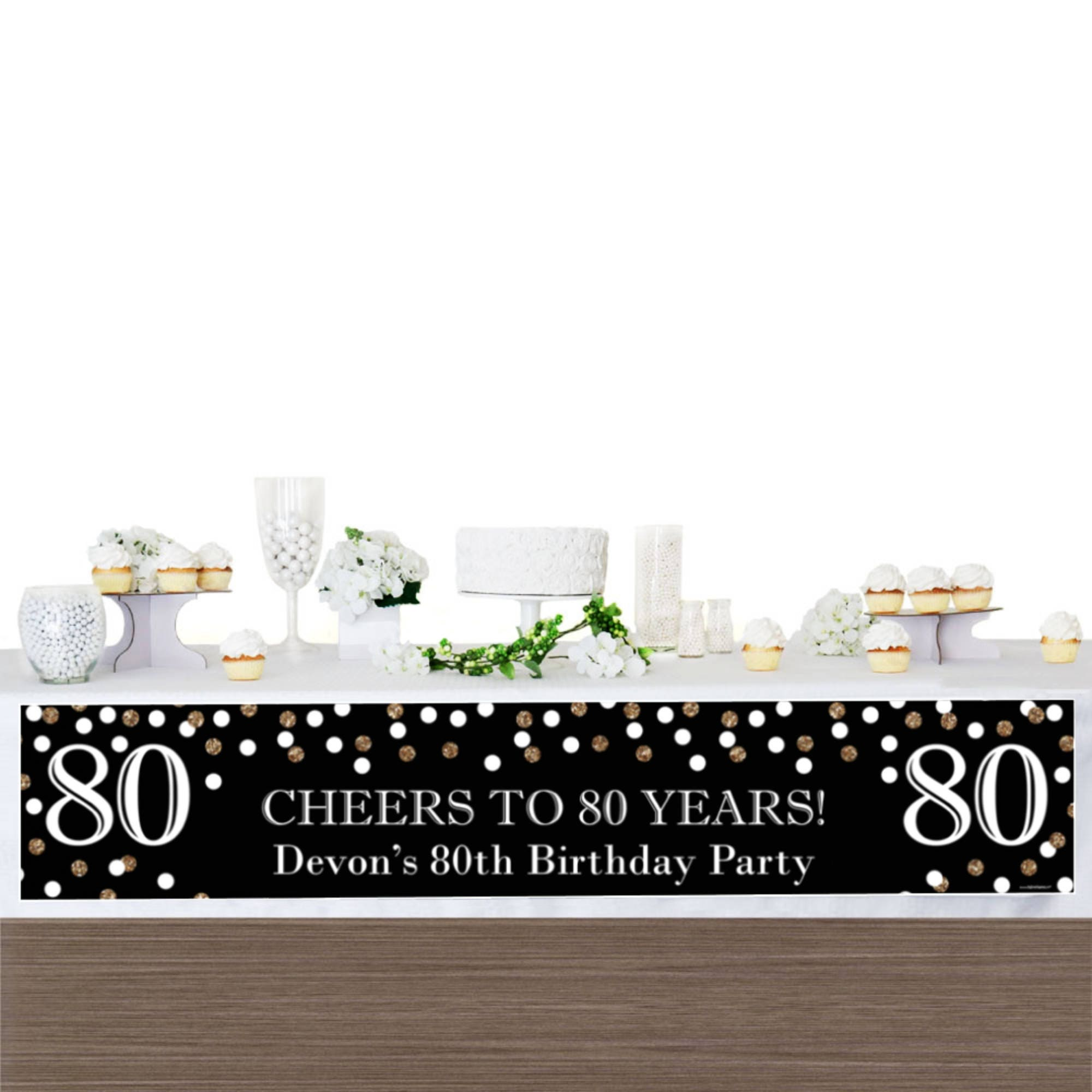 80th Birthday Party Banner Birthday Party Decorations 80th