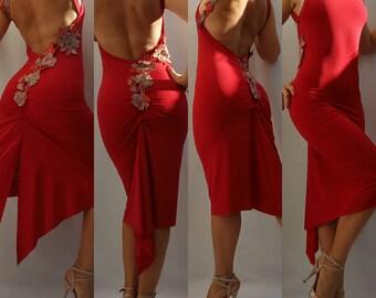 Red Fire Tango Dress