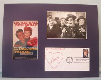 Lucille Ball and Desi Arnaz in I Love Lucy and First Day Cover of I Love Lucy Stamp