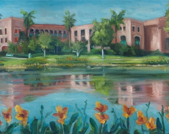 Casitas, oil painting, disney painting, original art