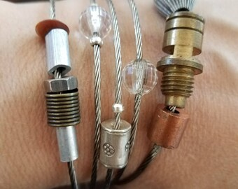 Industrial, found-object bracelet