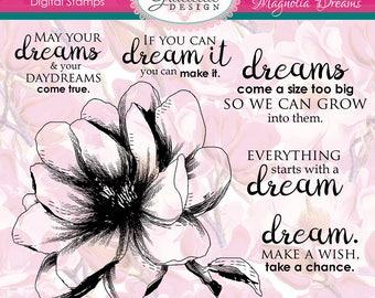 Magnolia Dreams - Digital Stamps