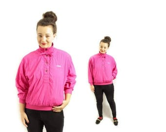 Pink ski jacket , Pink sport jacket, Pink jacket, HEAD jacket, 80s Womens jacket, Vintage sports jacket, Naylon jacket / Small Medium